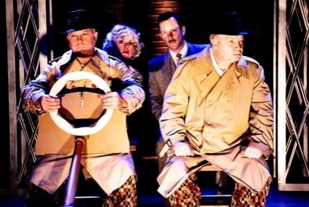 Frank Creasy (Clown One) Steve King (Clown Two) Back - (L to R) K Strong (Pamela) Dan Stackhouse (Richard Hannay)