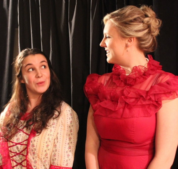 Lanie Novack as Cecily Cardew and Kelsey Kaisershot as Gwendolyn Fairfax
