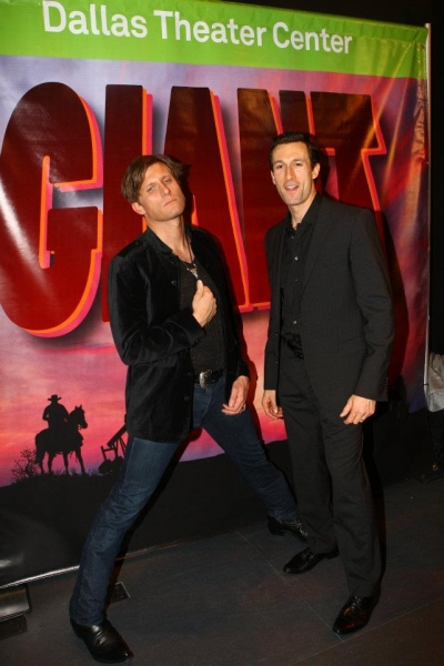 Pj Griffith and Aaron Lazar at Dallas Theatre Center Celebrates Opening Night of GIANT