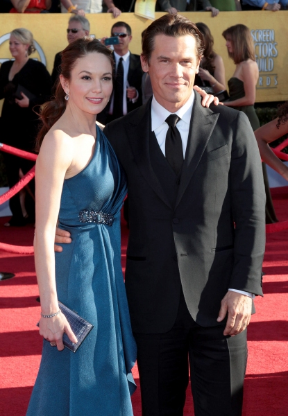 Diane Lane; Josh Brolin pictured at the 18th Annual Screen Actors Guild Awards - arrivals held at the Shrine Auditorium and Exposition Center in Los Angeles, CA on January 29, 2012 © RD / Orchon / Retna Digital at Viola Davis, GLEE & More on the SAG Red Carpet!