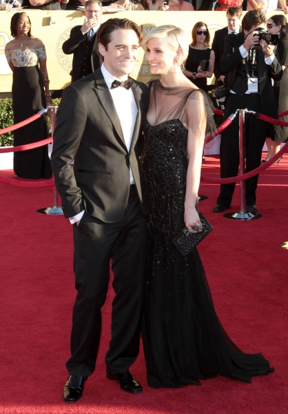 Vincent Piazza; Ashlee Simpson pictured at the 18th Annual Screen Actors Guild Awards - arrivals held at the Shrine Auditorium and Exposition Center in Los Angeles, CA on January 29, 2012 © RD / Orchon / Retna Digital at Viola Davis, GLEE & More on the SAG Red Carpet!
