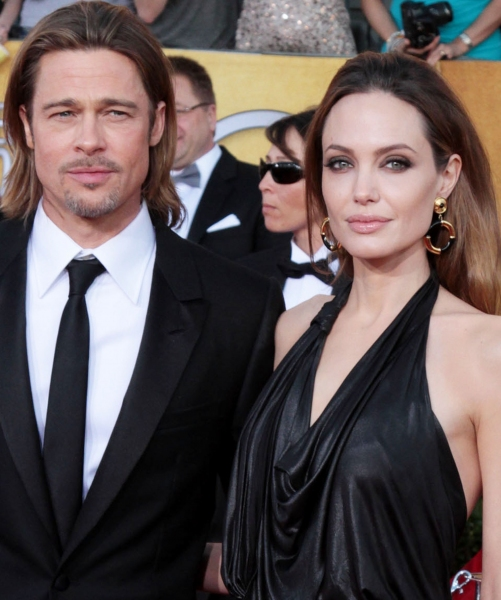 Angelina Jolie and Brad Pitt pictured at the 18th Annual Screen Actors Guild Awards - arrivals held at the Shrine Auditorium and Exposition Center in Los Angeles, CA on January 29, 2012 © RD / Orchon / Retna Digital