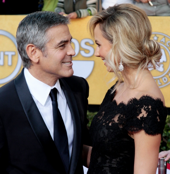 George Clooney and Stacy Keibler pictured at the 18th Annual Screen Actors Guild Awards - arrivals held at the Shrine Auditorium and Exposition Center in Los Angeles, CA on January 29, 2012 © RD / Orchon / Retna Digital