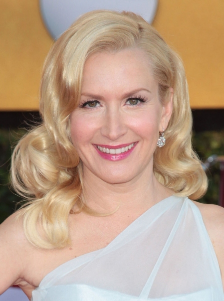 Angela Kinsey pictured at the 18th Annual Screen Actors Guild Awards - arrivals held at the Shrine Auditorium and Exposition Center in Los Angeles, CA on January 29, 2012 © RD / Orchon / Retna Digital at Viola Davis, GLEE & More on the SAG Red Carpet!