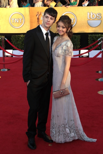 Matt Prokop; Sarah Hyland pictured at the 18th Annual Screen Actors Guild Awards - arrivals held at the Shrine Auditorium and Exposition Center in Los Angeles, CA on January 29, 2012 © RD / Orchon / Retna Digital