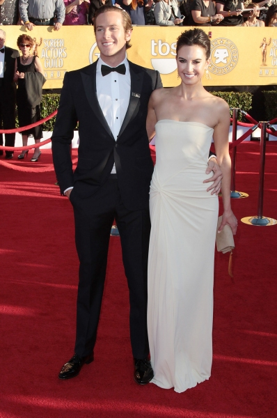 Armie Hammer & Elizabeth Chambers pictured at the 18th Annual Screen Actors Guild Awards - arrivals held at the Shrine Auditorium and Exposition Center in Los Angeles, CA on January 29, 2012 © RD / Orchon / Retna Digital. at Viola Davis, GLEE & More on the SAG Red Carpet!