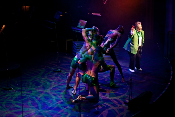 Russell Grant and dancers