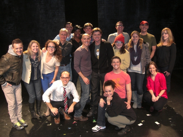 THE SILENCE! Company with cast members from On a Clear Day including Jessie Mueller and Sean Allan Krill at Jessie Mueller Visits SILENCE! THE MUSICAL