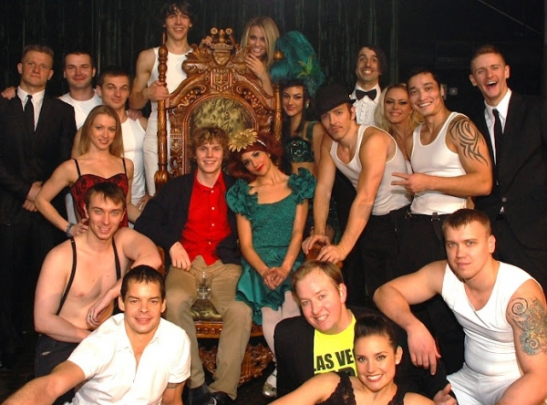 Evan Peters and the cast of ABSINTHE at Ryan Eggold, Evan Peters, Casper Van Dien and Catherine Oxenberg Visit ABSINTHE