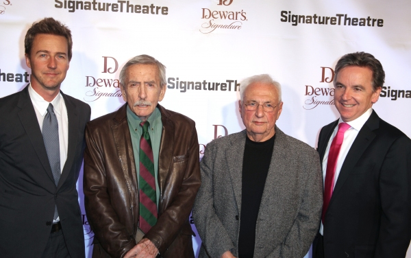 Edward Norton, Edward Albee, Frank Gehry and James Houghton Photo