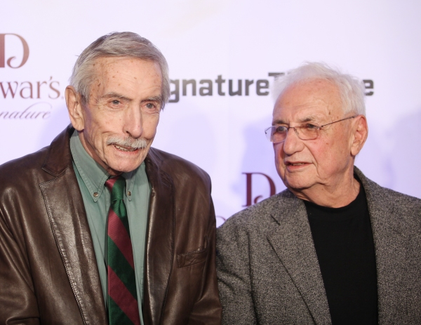 Edward Albee & Frank Gehry  at Signature Theatre Honors Edward Norton & Unveils New Signature Center!