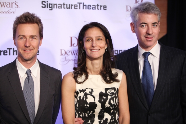 Edward Norton, Karen Ackman and Bill Ackman  Photo