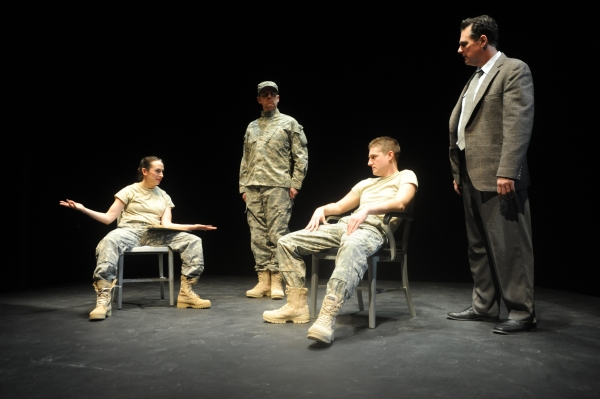 Karen Slack, Erik Sanvold, Sean Scrutchins, Michael McNeill at BWW Reviews:  Curious Theatre's 9 CIRCLES - a Compelling Ensemble!