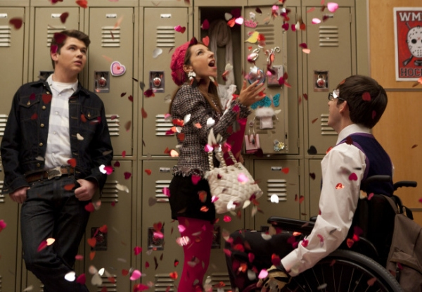 Damian McGinty, Kevin McHale and Vanessa Lengies