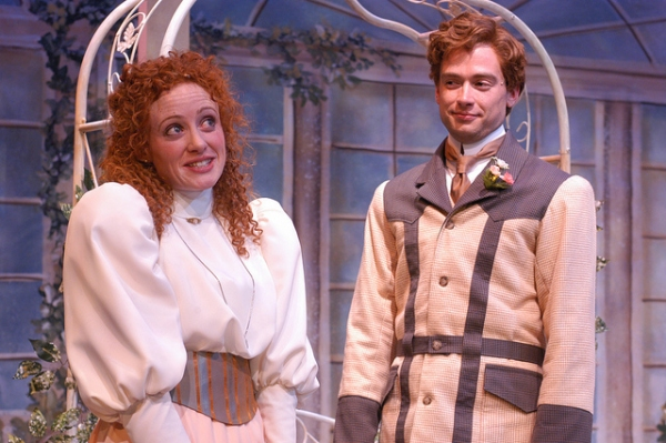Caitlin Wise (Cecily Cardew) and Jake Walker (Algernon Moncrieff) Photo