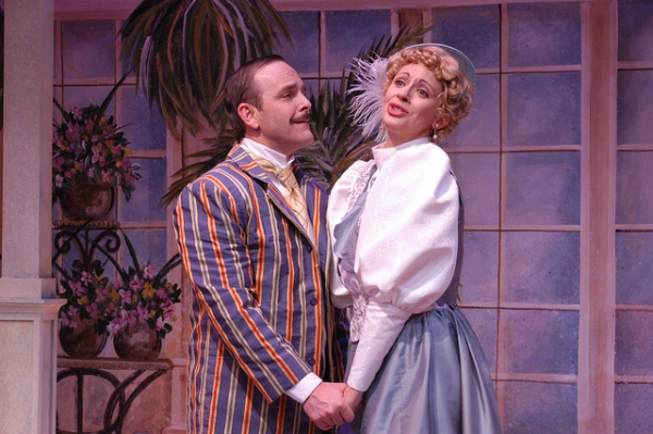 Scott Bellot (Jack Worthing) and Kate Berry (Gwendolyn Fairfax) Photo