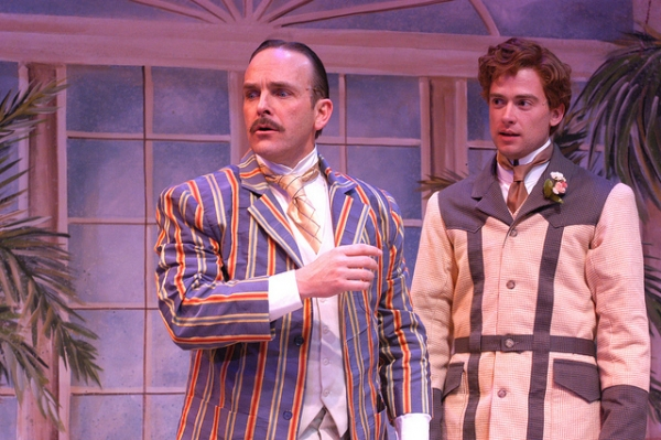 Scott Bellot (Jack Worthing) and Jake Walker (Algernon Moncrieff)
