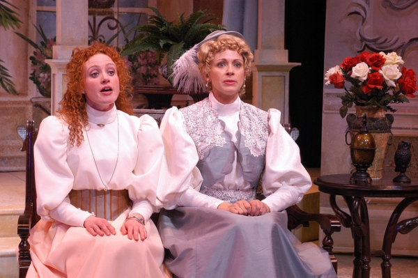 Caitlin Wise (Cecily Cardew) and Kate Berry (Gwendolyn Fairfax)