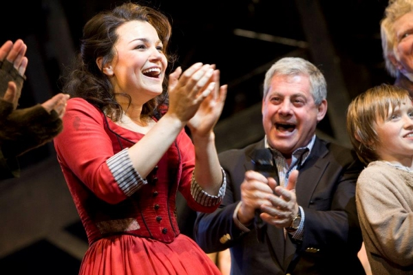 Cameron Mackintosh and Samantha Barks - Les Mis Film Eponine Announcement - Photo credit Phil Tragen at Meet Eponine! Samantha Barks Through the Years...
