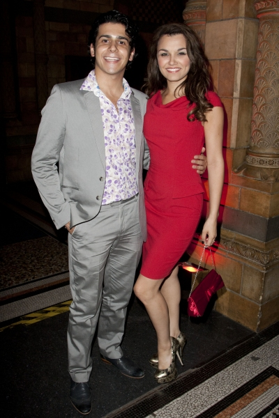 Liam Tamne and Samantha Barks at the 25th anniversary of THE PHANTOM OF THE OPERA after party at the Natural History Museum, London, Britain - 02 Oct 2011. Photo by Dan Wooller/Rex