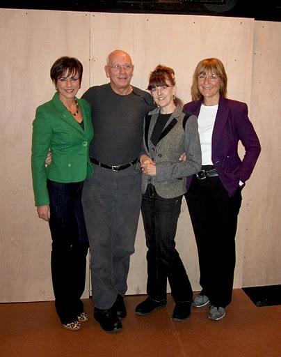 Colleen Zenk, director Frank Ventura, Meghan Duffy and Eliza Ventura