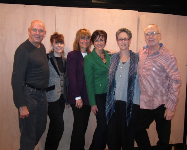 Director Frank Ventura, Meghan Duffy, Eliza Ventura, Colleen Zenk, co-authors Amy Ferris and Ken Ferris