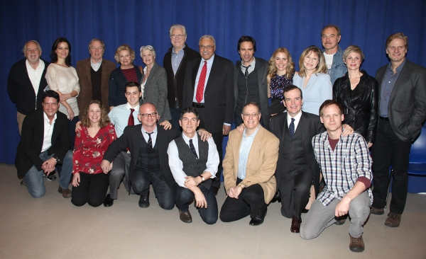 Michael McKean, Candice Bergen, Angela Lansbury, John Larroquette, James Earl Jones, Eric McCormack, Kerry Butler, Jefferson Mays, Donna Hanover, and Michael Wilson at GORE VIDAL'S THE BEST MAN Meets the Press!