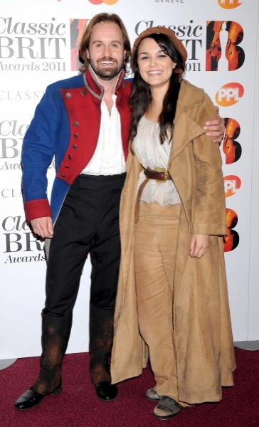 Samantha with Les Mis West End co-star Alfie Boe at From The Archive: BWW:UK Talks To LES MISERABLES' Eponine - Samantha Barks!