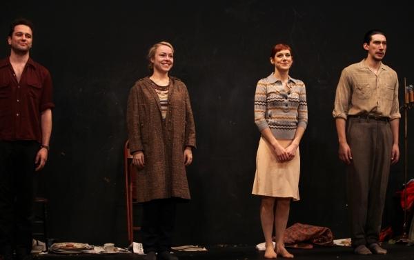 Matthew Rhys, Charlotte Parry, Sarah Goldberg & Adam Driver. Photo Credit: Walter McB Photo