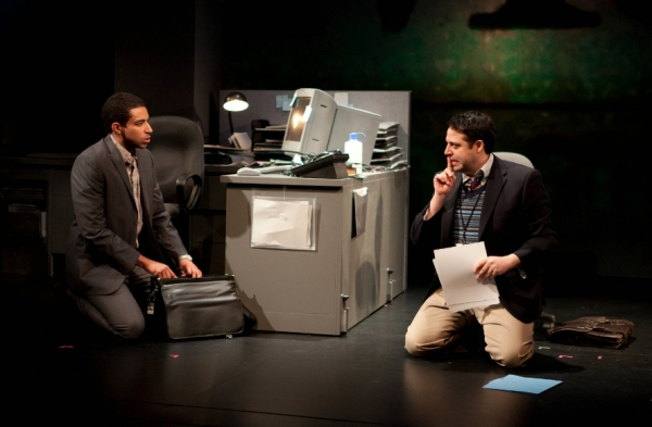 Kobi Libii and Steve Rosen at First Look at Atlantic Theater Company's CQ/CX