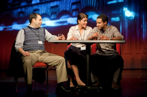Steve Rosen, Sheila Tapia, and Kobi Libii at First Look at Atlantic Theater Company's CQ/CX