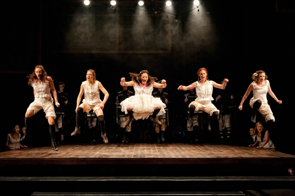 Emily Witte (Anna), Clare Howes Eisentrout (Martha), Kyra Kennedy (Wendla), Andrea Leach (Ilse), and Rachel Brawley (Thea)