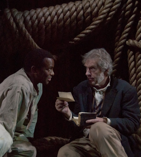Leopold Lowe and Peter Brouwer at Abingdon Theatre Company's LOST ON THE NATCHEZ TRACE