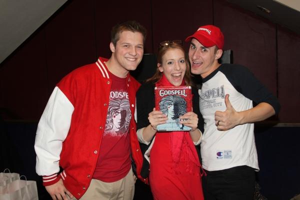 Will Dietzler, Godspell Girl Lindsey Freeman (follow her @godspellgirl) and John Etti Photo