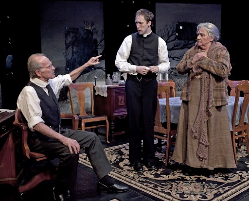 Robert Hogan, James Patrick Nelson and Dale Soules at Mint Theater's Rutherford & Son