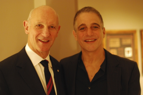 David Mirvish and Tony Danza at Mirvish '12-'13 Season Announcement - Colm Wilkinson, Tony Danza & More!