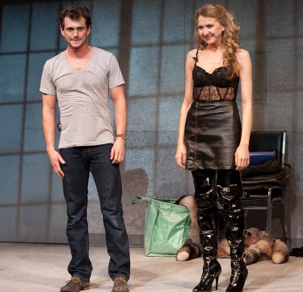 Venus in Fur Production Photo - Hugh Dancy and Nina Arianda
