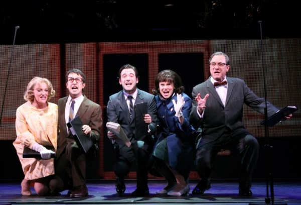 Betsy Wolfe, Lin-Manuel Miranda, Colin Donnell, Celia Keanan-Bolger, Adam Grupper at First Look at Encores' MERRILY WE ROLL ALONG- Production Shots!