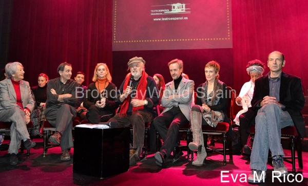 La troupe (de ida a dcha): Asunción Balaguer, Pep Molina, Vicky Peña, Mario Gas, Carlos Hipólito, Muntsa Rius y Pep Pladellorens