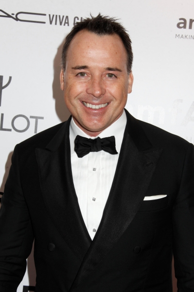 David Furnish at David Furnish, Cheyenne Jackson, et al. at amfAR Gala
