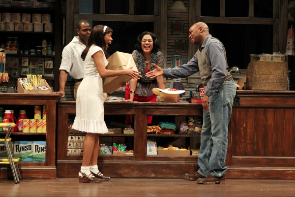 Clifton Duncan, Angela Lewis, de'Adre Aziza, and Marc Damon Johnson  at First Look at Yale Rep's GOOD GOODS with Kyle Beltran, de'Adre Aziza and More!