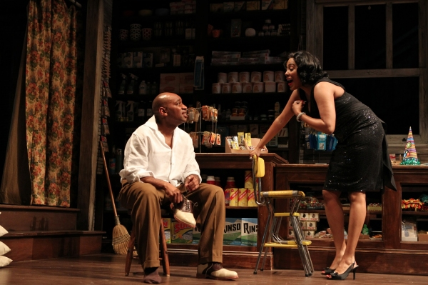 Marc Damon Johnson  and de'Adre Aziza  at First Look at Yale Rep's GOOD GOODS with Kyle Beltran, de'Adre Aziza and More!