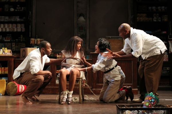 Clifton Duncan, Angela Lewis, de'Adre Aziza, and Marc Damon Johnson