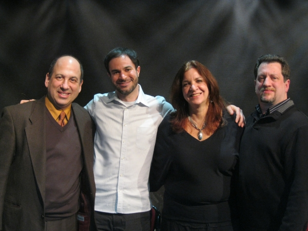 Michael Kostroff, Dr. Scott Kaplan, Wendy Kaplan, and Wayne Mell at Michael Kostroff Talks CLUTTER at Greenhouse Theater Center