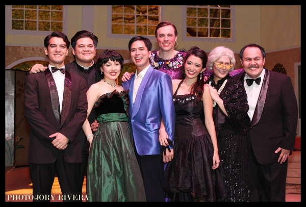Hans Eckstein, Jamie Wilson, Cris Villonco, Topper Fabregas, James Stacey, Gianina Ocampo, Juno Henares, Oliver Usison at Ken Ludwig's LEADING LADIES Opens In Manila