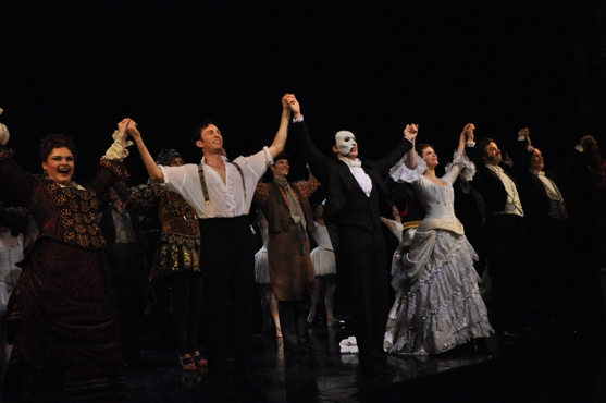 Michele McConnell, Kyle Barisich, Hugh Panaro and Trista Moldovan at THE PHANTOM OF THE OPERA Celebrates 10,000 Performances!