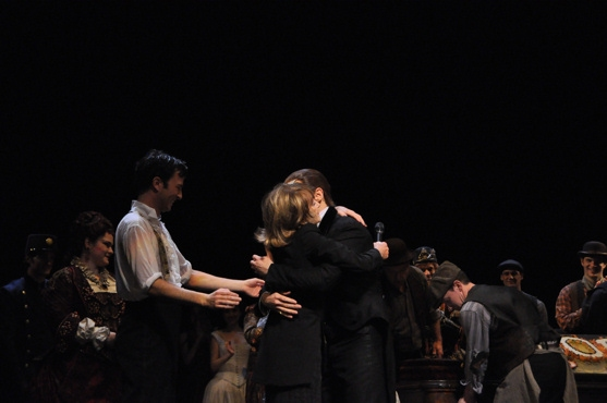 Kyle Barisich, Gillian Lynne and Hugh Panaro