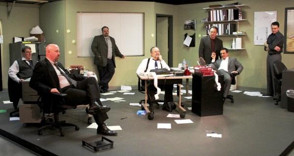 Cast L-R: Verl Hite (Aaronow), Richard Cowden (Moss), Ryan Goold (Baylen), Paul Page  Photo