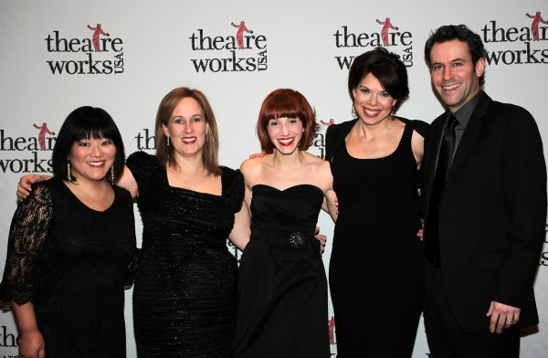 Ann Harada, Zina Goldrich, Gwen Hollander, Jill Abramowitz, Brad Alexander at Elaine Stritch & More Celebrate Theatreworks 50th Anniversary