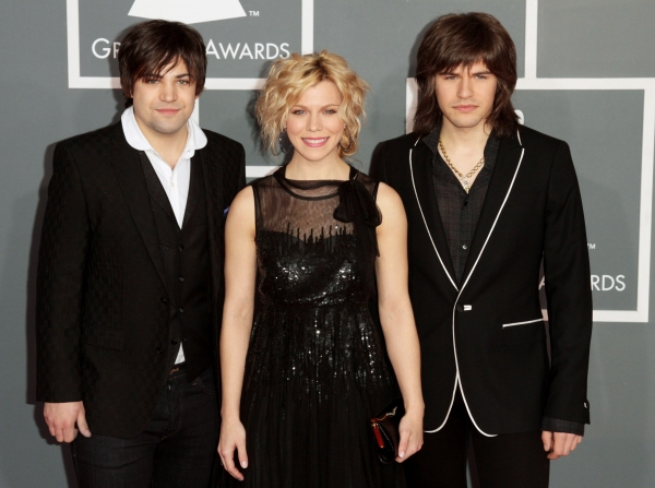 Musicians Neil Perry, Kimberly Perry and Reid Perry of The Band Perry pictured at the 54th Annual GRAMMY Awards held at  The Staples Center in Los Angeles, California on February 12, 2012. © RD / Orchon / Retna Digital